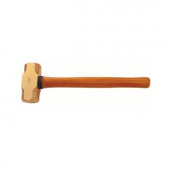 №2101B Латунная кувалда с деревянной рукояткой искробезопасный