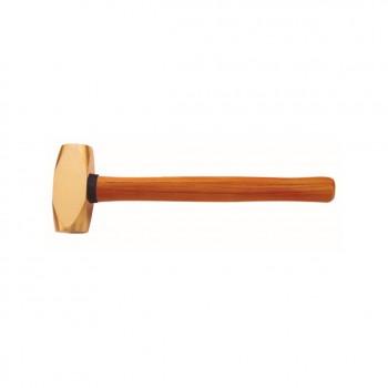№2107B Латунная кувалда с деревянной рукояткой
